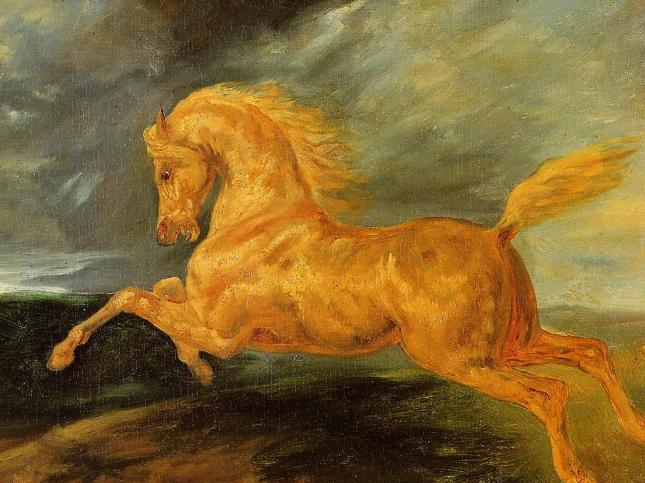Theodore_Gericault__A_Horse_Frightened_by_Lightening__1810_1812__Wallpaper_ifoim