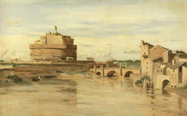 Abrupt Clio Team - Camille Corot 1826-1828 Le Chateau St Ange et le Tibre  Rome