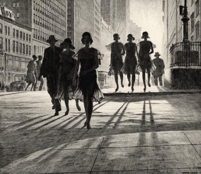 0 Lewis, Martin, 1930, Shadow Dance, drypoint, Oldprintshop