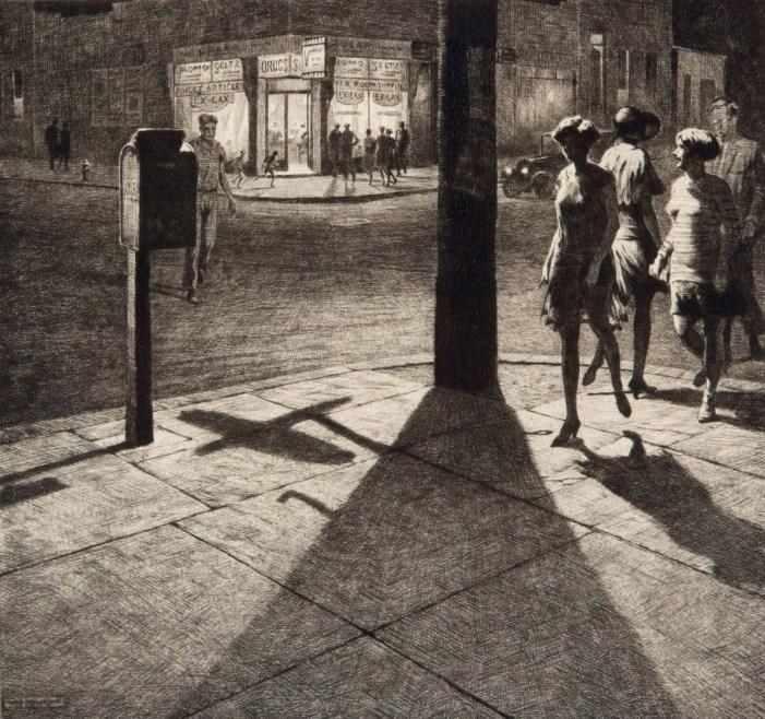 0 Lewis, Martin, 1930, Corner Shadows, drypoint, Christies