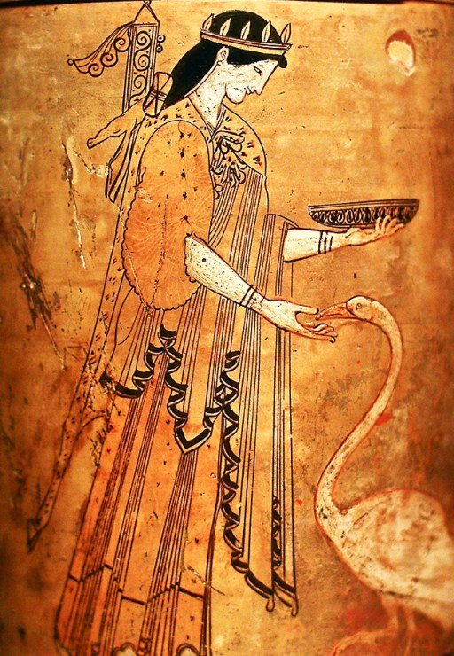 White-ground lekythos of Artemis in her representation as