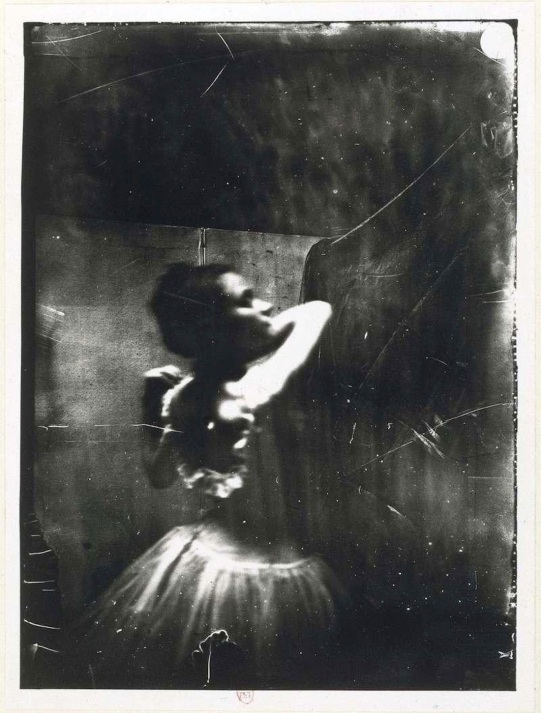 Edgar Degas ~ Dancer adjusting her shoulder strap, ca. 1900
