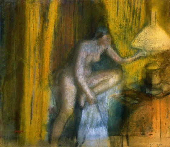 Edgar Degas (1834-1917) Bedtime-also-known-as-Woman-Extinguishing-Her-Lamp-circa-1883