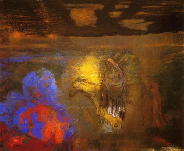 Odilon-Redon-The-Flight-into-Egypt