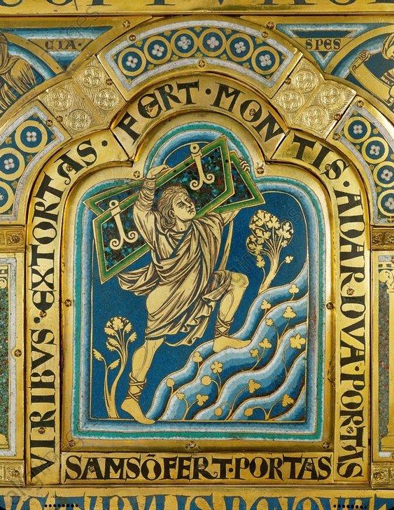 Nikolaus von Verdun, Samson u.Stadttore - N.of Verdun, Samson with the City Gates - Nikolaus von Verdun, Samson et portes