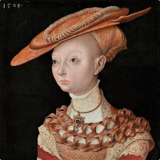 Nachahmer-von-Lucas-Cranach-dem-Aelteren-Portraet-einer-jungen-Frau-mit-dem-Farn-1538-HD-Metal-Print-Ein-kuenstlerisches-Accessoire-fuer-die-Ihre-Ledertasche