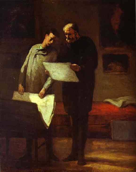 Advice-To-A-Young-Artist-1860-Honore-Daumier-Oil-Painting