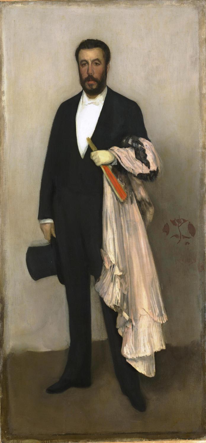 7-57-2-Whistler-Arrangement-en-couleur-chair-et-noir-Portrait-de-Théodore-Duret