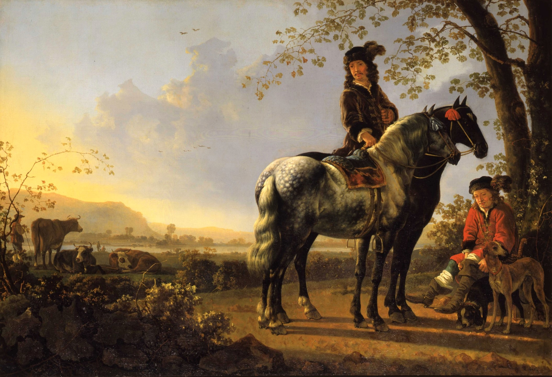Aelbert-Cuyp-Horsemen-Resing-in-a-Landscape-Collection-of-the-Dordrecht-Museum-purchased-with-support-of-Vereniging-Rembrandt-1978.