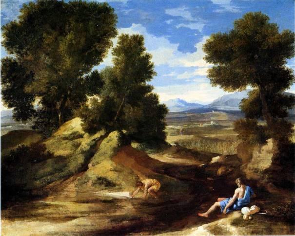 Poussin-1637-1638-Paysage_avec_homme_buvant_-__-_National_Gallery_London