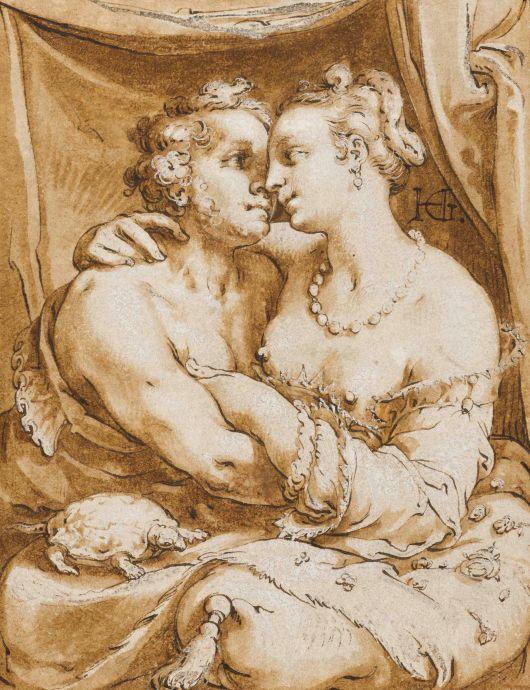 Hendrick Goltzius, Minnekozend paar