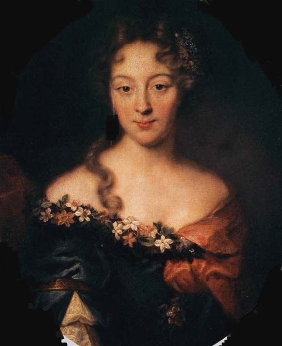 MIGNARD, Pierre (b. 1612, Troyes, d. 1695, Paris) Portrait of Françoise-Marguerite, Countess of Grignan - Oil on canvas, 68 x 56 cm Galleria degli Uffizi, Florence Mignard speciality was prettiness in the Italian style. The sitter's vaguely classical garb, trimmed with flowers adorning her bosom, might suggest an identity as Flora, Roman goddess of blossoming spring. Françoise-Marguerite was the daughter of Madame de Sévigné, whose daily letters provide unmatched treasures of inside into life under Louis XIV. --- Keywords: -------------- Author: MIGNARD, Pierre Title: Portrait of Françoise-Marguerite, Countess of Grignan Time-line: 1651-1700 School: French Form: painting Type: portrait