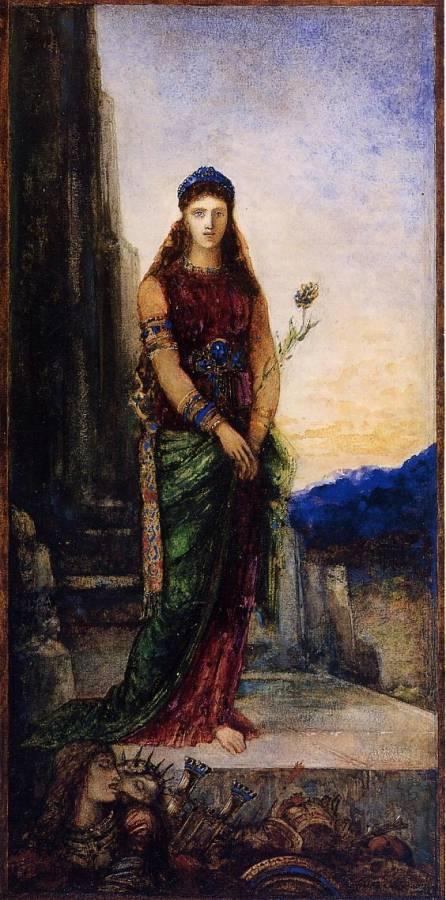 Moreau Gustave - Helene sur les remparts de Troie