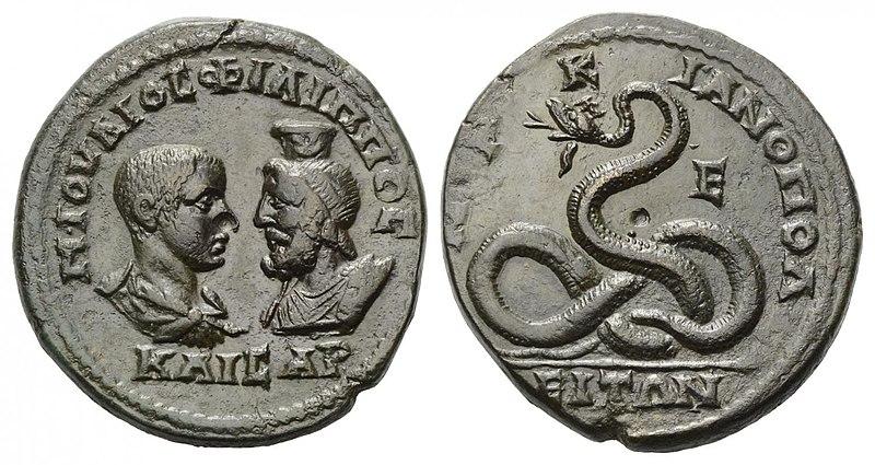 800px-Pentassarion_Philippus_II 247 Avec Sérapis