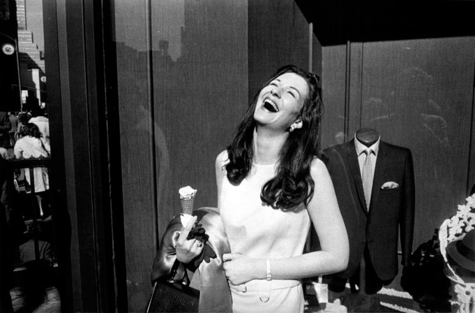 Winogrand-Garry-Laughing-Woman-w-Ice-Cream-Cone-1985_666_10
