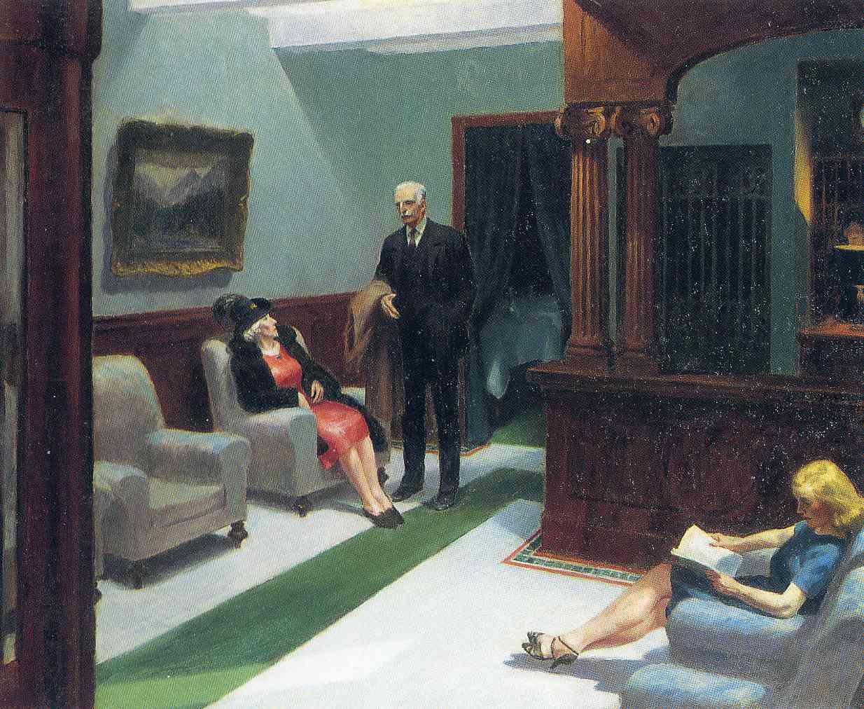 Hopper Edward - Hotel lobby - 1943