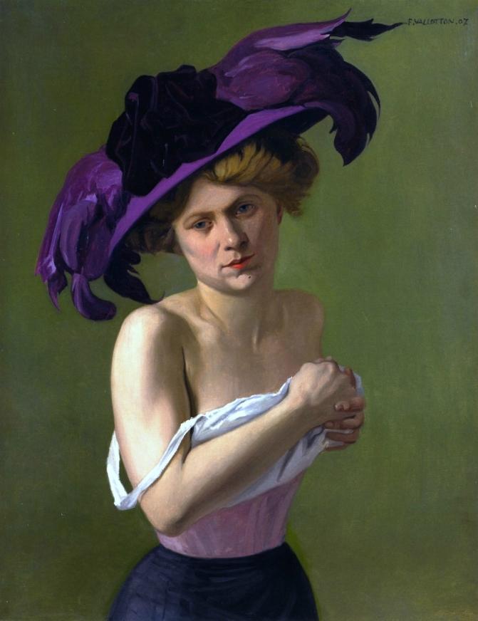Félix_Vallotton,_1907_-_Le_Chapeau_violet